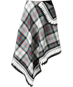 DANIELLE ROMERIL | Asymmetric Plaid Skirt
