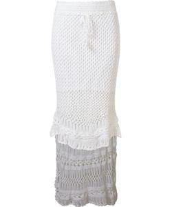 SKINBIQUINI | Hi-Low Crochet Skirt