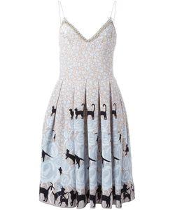 Holly Fulton | Плиссированное Платье С Принтом
