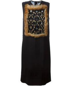 Dsquared2 | Платье С Вставкой Из Кроличьего Меха И Пайеток