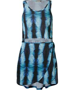 BLUE MAN | Abstract Print Beach Dress