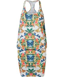 BLUE MAN   Printed Sleeveless Dress