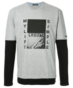 EDUCATION FROM YOUNGMACHINES   Graphic Print Contrast T-Shirt Men