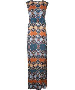 EMANNUELLE JUNQUEIRA   Длинное Платье С Абстрактным Принтом