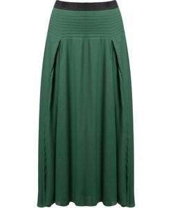 EMANNUELLE JUNQUEIRA | Pleated Midi Skirt