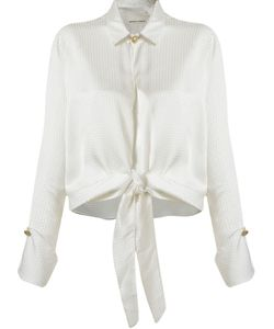 EMANNUELLE JUNQUEIRA | Classic Collar Front Lace Up Shirt