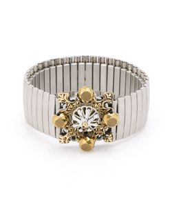EMANNUELLE JUNQUEIRA | -Faceted Stone Embellished Cuff