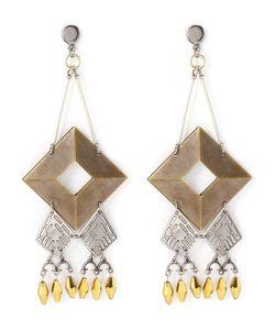 EMANNUELLE JUNQUEIRA   Geometric Appliqué Earring