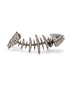 KAMUSHKI | 18k Diamond And Sapphire Ear Cuff