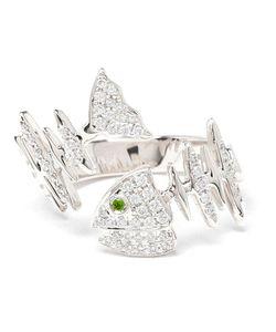 KAMUSHKI | 18kt Diamond And Sapphire Knuckle Ring
