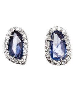 KIMBERLY MCDONALD | Sapphire And Diamond Stud Earrings