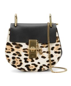 Chloe | Drew Leopard Shoulder Bag