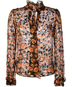 Lanvin | Прозрачная Рубашка С Цветочным Принтом