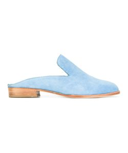 Robert Clergerie | Alice Mules 38 Calf Suede/Leather