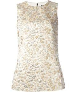 Dolce & Gabbana | Жаккардовый Топ С Цветочным Принтом