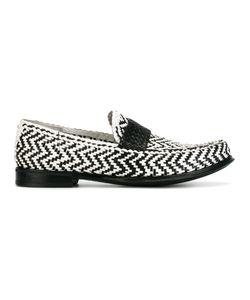 Dolce & Gabbana | Woven Zig-Zag Loafers 43 Calf