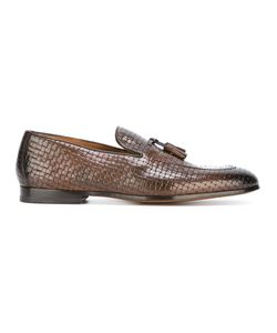 Doucal's | Woven Effect Tassel Loafers 41.5 Leather