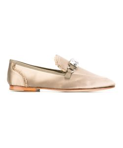 Giuseppe Zanotti Design | Clover Loafers 41 Leather/Glass