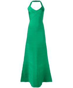 Hervé Léger | Ribbed Maxi Dress Xs Rayon/Nylon/Spandex/Elastane