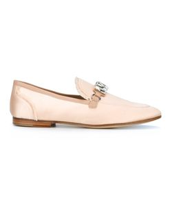Giuseppe Zanotti Design | Clover Loafers 38 Leather/Satin Ribbon