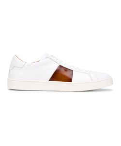 Santoni | Panelled Lace-Up Sneakers Size 40.5