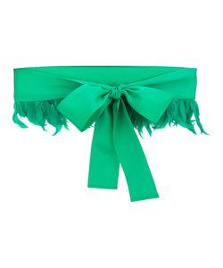 SARA ROKA | Feather Trim Bow Belt