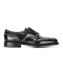 Church'S | Studded Spazzolato Monk Shoes 8 Calf Leather