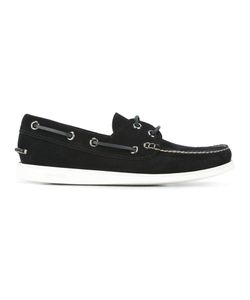 Church'S | Contrast Boat Shoes 10 Chamois Leather/Leather/Rubber
