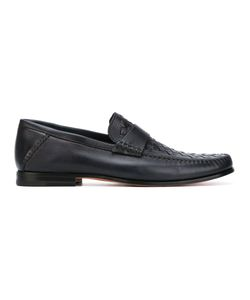 Santoni   Woven Loafers 8.5