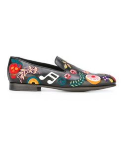 Paul Smith | Embroide Loafers 10 Leather