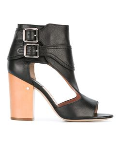 Laurence Dacade | Rush Cut-Out Boots 38 Leather/Wood