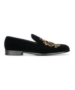 Dolce & Gabbana | Лоферы Из Бархата С Вышивкой