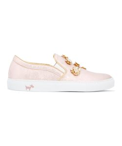 L' Autre Chose | Embellished Slip-On Sneakers