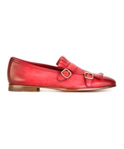 Santoni | Degradé Effect Monk Shoes 40 Calf Leather/Leather