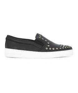 Michael Michael Kors | Studded Slip-On Sneakers 8.5 Leather/Cotton/Metal/Rubber