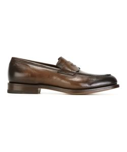 Santoni | Classic Loafers 7.5 Calf Leather/Leather