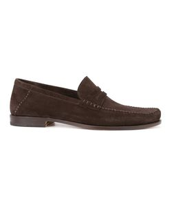 Santoni | Brock Penny Loafers 12 Leather/Suede