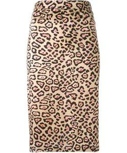 Givenchy | Юбка А-Образного Силуэта С Леопардовым Принтом