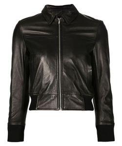 R13   Укороченная Кожаная Куртка