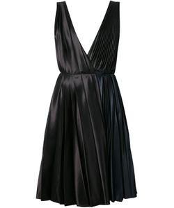 Cedric Charlier | Плиссированное Платье С Глубоким Вырезом