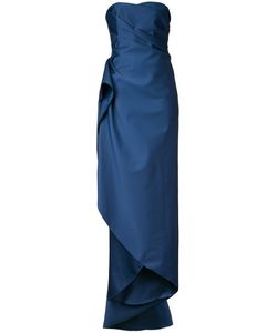 Paule Ka   Strapless Long Woven Dress