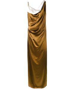 Lanvin | Драпированное Длинное Платье