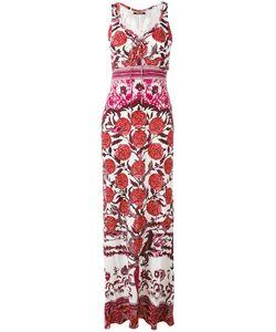 Roberto Cavalli | Длинное Платье С Принтом Роз
