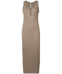 Isabel Benenato | Sleeveless Ribbed Henley Dress