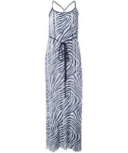 Michael Michael Kors | Zebra Print Pleated Maxi Dress Size 2