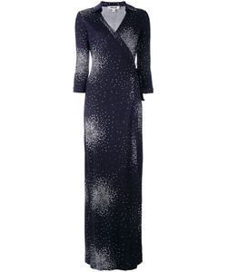 Diane Von Furstenberg | Patterned Maxi Wrap Dress Size