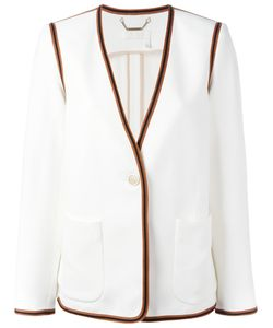 Chloe | Chloé Ribbon Trim Blazer 38 Acetate/Viscose/Silk