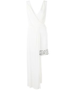 Versace Collection | Asymmetric V-Neck Dress 40 Viscose/Polyamide