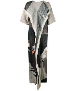 UMA WANG | Платье Лоскутного Кроя С Вышивкой