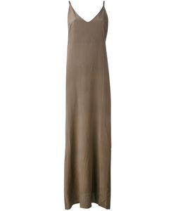 Isabel Benenato | Длинное Платье На Тонких Бретельках